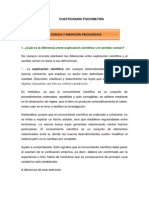 PSICOMETRIA CUESTIONARIO