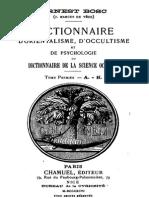 Bosc Ernest - Dictionnaire d'Orientalisme, d'Occultisme Et de Psychologie