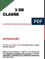 Instruçõess de Preenchimento do Diário de Classe