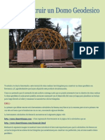 como construir un domo geoesico