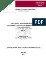 Clima Laboral y Percepcion de La Imagen Institucional