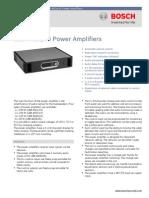Bosh LBB 442xX0 Power Amplifier