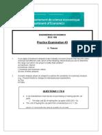 Practice Exam #3 ECO1192