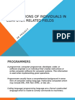 the functions of individuals in computer related fieldz 11234