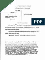 Cox Communications Inc, et al. v. Sprint Communications Company L.P., et al., C.A. No. 12-487-SLR (D. Del. May 15, 2015)