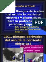 Riesgos Derivados Del Uso de La Corriente Eléctrica