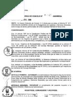 ACUERDO DE CONCEJO 049-2009/MDSA
