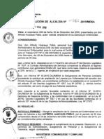 RESOLUCION DE ALCALDIA 014-2010/MDSA