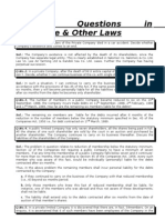 Practical Questions in Corporate & Other Laws