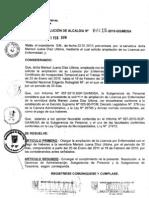 RESOLUCION DE ALCALDIA 018-2010/MDSA