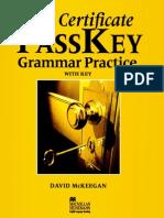 First Certificate Passkey Book