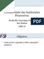 Aula 13 Cont. Inst.financeiras