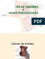Cancer de Tiroides y Senos Paranasales