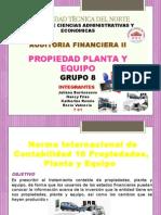 G8- Propiedad Planta y Equipo