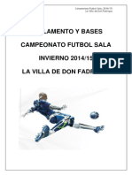 Reglas Liga Futbol Sala 2014