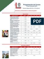 1.-+CALENDARIO+CURSOS++ABIERTOS+PRIMER+SEMESTRE+2015