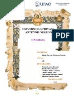 Monografía de EL SINDICATO Finalizado