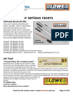 Tools List for Serious Racers