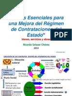 Temas Esenciales Para Una Mejora Del Regimen de Contrataciones Del Estado. Ricardo Salazar Chavez 2014