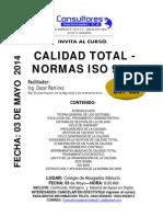 PUBLICIDAD 03 de Mayo. Calidad Total y Normas ISO 9000