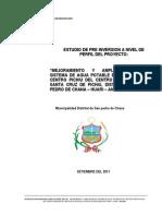 Estudio de Perfil Mejoramiento y Ampliacion de Agua Potable