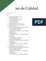 Indice Dossier de Calidad