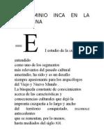 El Dominio Inca en La Argentina