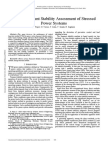 Direct Transient Stability Assessment of Stressed Power Systems