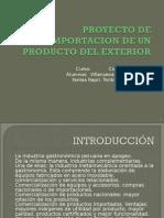 proyecto de importacion de un producto del exterior