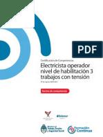 NCL ENER ELECTRICA Electricista Operador Nivel de Habilitación 3 Trabajos Con Tensión