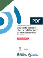 NCL ENER ELECTRICA Electricista Operador Nivel de Habilitación 2 Trabajos Con Tensión