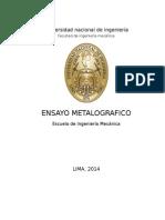 ENSAYO DE METALOGRAFIA