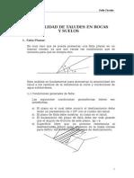 Estabilidad de Taludes en Rocas y Suelos