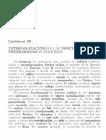 internalizacion de las funciones psicologicas superiores. vygotsky
