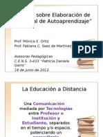 Caract de La Edu a Distancia y Elaboración Del Material Por Fabiana Seaz