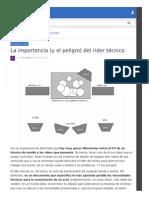 Importancia_del Rider Técnico de Audio