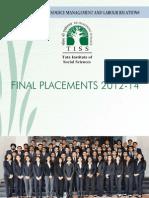 TISS HRM PlacementBrochure Final Placement 2012-14