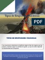 Tipos de erupciones volcánicas