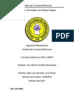 Analisis de Circuitos Electricos Trabajo #1