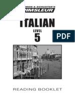Pimsleur Italian V