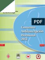 CONSENSO ANTICONCEPCIÓN HORMONAL 2013