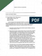 Michael A Derose Cease and Desist Order Colorado Dental Board 2004