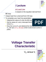L12 Voltage Transfer Characteristic,BJT Biasing 1