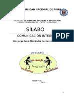 Sílabo de Comunicación Integral - Industrial