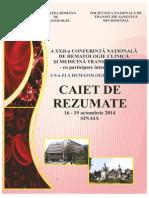 Caiet de Rezumate - Conferinta Nationala de Hematologie 2014