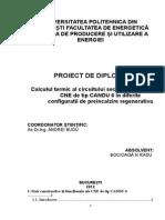 Calculul Termic Al Circuitului Secundar Pentru CNE de Tip CANDU 6 in Diferite Configuratii de Preincalzire Regenerativa