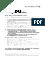 how do you teach checklist