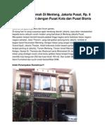 Iklan Dijual Rumah Di Menteng, Jakarta Pusat, Rp. 9 Miliar an, 10310