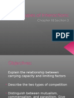 Types of Interactions Ch 18.3 7th