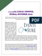 Global Legal Confex, Dubai, October 2015